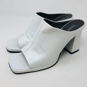 So mod retro ENZO ANGIOLINI white mules